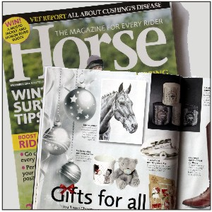 D'Arcy featured in Horse Magazine's Christmas Gift Guide - Nov '14