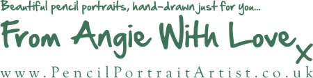 Beautiful pencil portraits, hand-drawn just for you... From Angie With Love x
