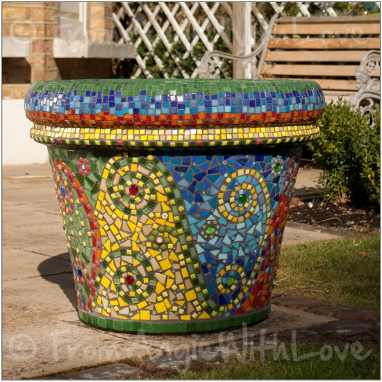 Beautiful Large Mosaic Plant Pot