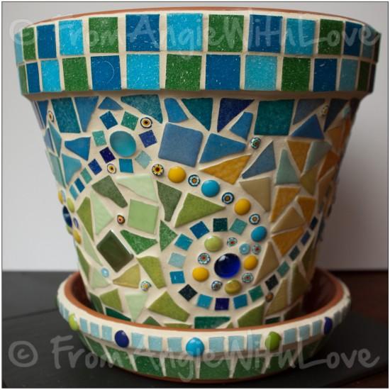 Mediterranean-inspired Mosaic Plant Pot