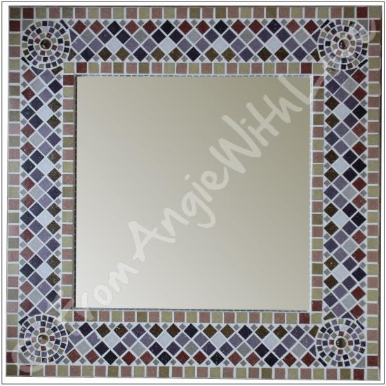 Mosaic-framed Mirror