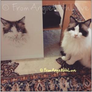 Maisie meets her portrait