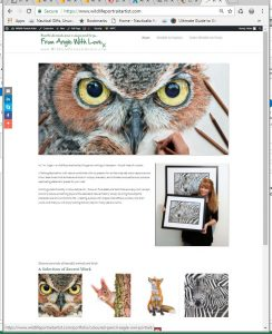 Check out my new dedicated wildlife art website at www.WildlifePortraitArtist.com.